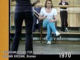 Johann Kresnik, Proben zu Friedensanleitung für Jedermann
