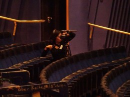 Dreharbeiten im Aalto-Theater Essen zur Verleihung des Tanzpreises 2019. Foto Kirsten Tiedemann