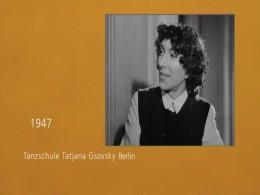 Tanzschule Tatjana Gsovsky Berlin, 1947, Videoausschnitt
