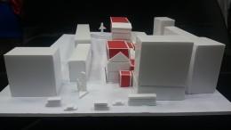 Modell mit Entwurfscharakter für einen möglichen Standort