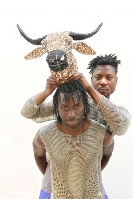 Die Filmemacher Medoune Seck und Kossi Sébastien Aholou-Wokawui. Foto: Marianne Menke