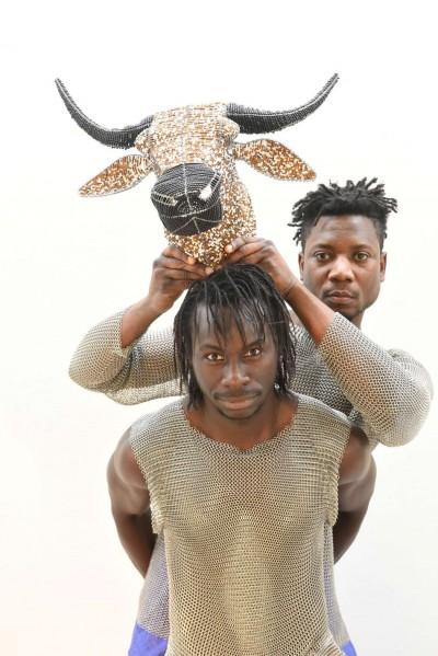 Medoune Seck und Kossi Sébastien Aholou-Wokawui. Foto Marianne Menke